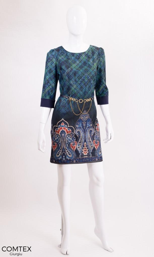 rochita de primavara cu accesoriu curea aurie