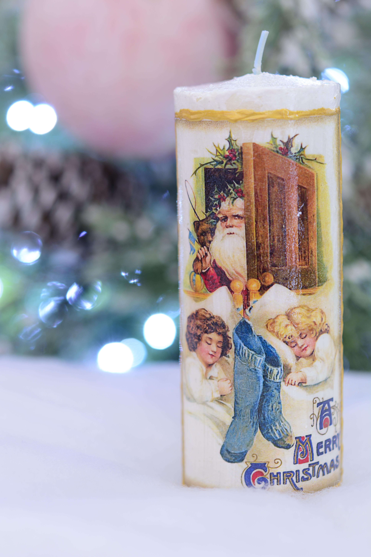 Lumanare Decorativa Cu Santa
