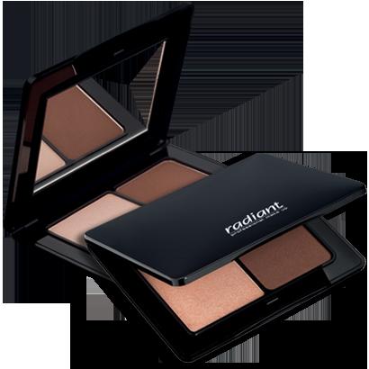 Paleta iluminare si conturare de la Radiant Professional Makeup