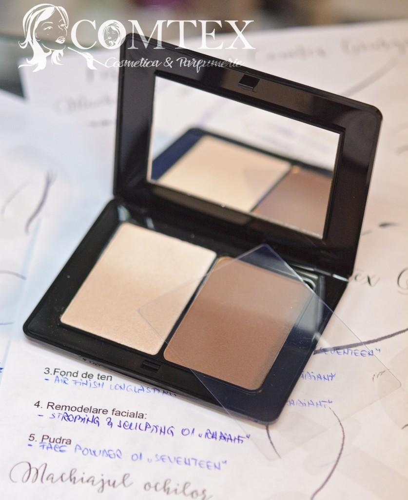 Paleta Strobing & Sculpting de la Radiant Professional Makeup, nr. 01