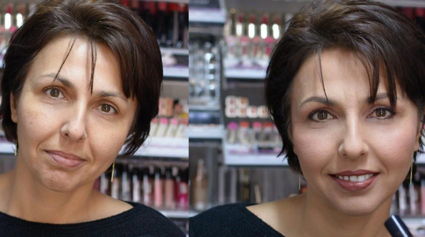 nunica-foto before and after machiaj